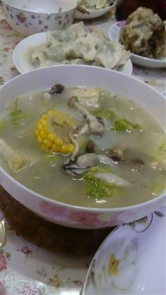 大白菜炖豆腐海蛎子