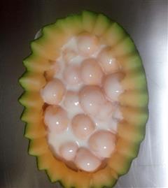 酸奶哈密瓜球