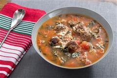 意大利牛肉丸番茄燕麦炖汤