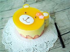 小熊芒果慕斯蛋糕