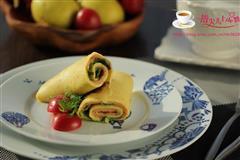 三文鱼鸡蛋卷饼