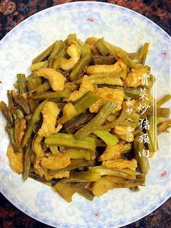 贡菜炒猪颈肉