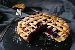 炼乳蓝莓派