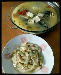 财鱼两吃-鱼头豆腐汤&滑鱼片