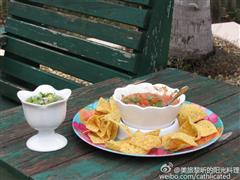 酷爽开胃菜-墨西哥红绿Salsa辣酱配玉米片