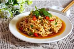 夏天餐桌家常菜-凉拌金针菇