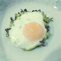 卷心菜香菇烘蛋