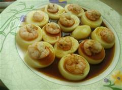 玉子豆腐蒸虾仁