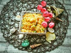 黄金海鲜炒饭