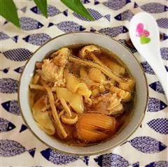 茶树菇花胶汤