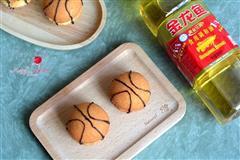 篮球夹心蛋糕