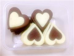 双色心形饼干