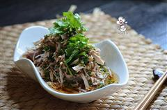 芽菜凉拌手撕鸡-亚麻籽油精选菜系