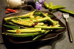 古朴烹饪法烤秋葵
