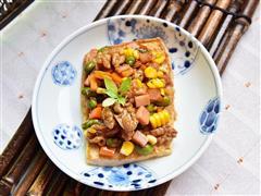 核桃五彩豆腐