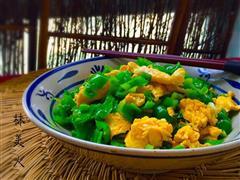 薄皮青椒炒鸡蛋