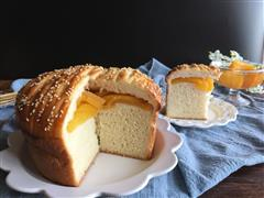 面包机版黄桃面包派
