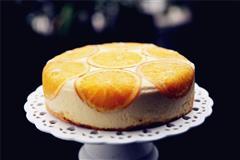 香橙卡仕达慕斯蛋糕
