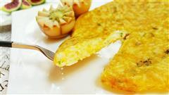 快手早餐-香葱蛋饭煎饼