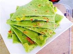 降血压神食材-彩椒芹菜鸡蛋饼