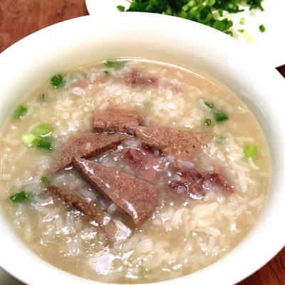 猪肝瘦肉粥