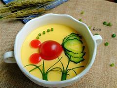 豆腐鸡蛋羹-金鱼戏水