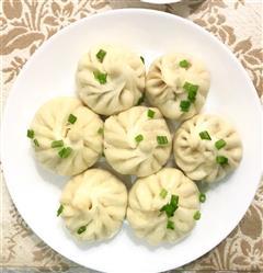 春天面食-豌豆生煎包